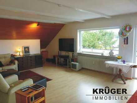 KA-Grünwettersbach / großzügige 3,5-Zi-DG-Whg mit zwei Balkonen und Garage in ruhiger Hanglage