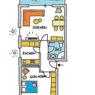 Sanierte 2-Zimmer-Wohnung mit Balkon und Einbauküche in Heidelberg