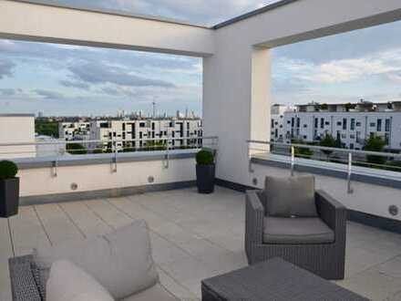 Furnished Penthouse with Frankfurt Skyline View