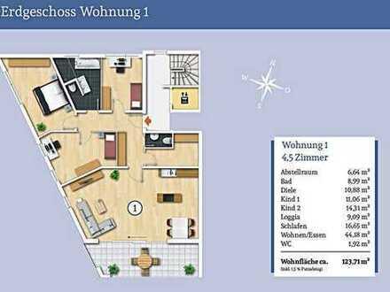 Viel Platz für die Familie - Großzügige 4,5 Zi-Erdgeschosswohnung