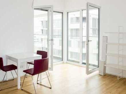 F-Riedberg: ERSTBEZUG! Neubau 2-Zimmerwohnung mit EBK, teilmöbliert