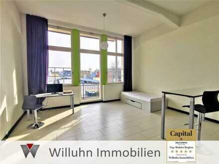 Zentral und ruhig! Möbliertes Appartement mit Stellplatz - Balkon - EBK - Fußbodenheizung - Aufzug