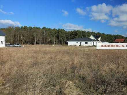 IMMOBERLIN: Nur 148 €/m2: Herrliches Baugrundstück in Seenähe