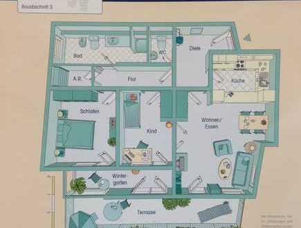große helle Erdgeschosswohnung mit neuer hochwertigen Küche
