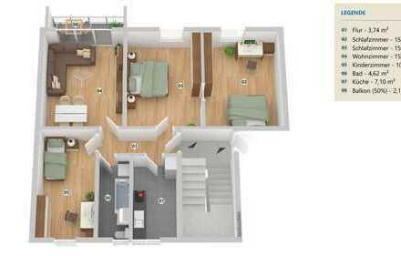 Bild_Sanierte 4 Zimmer Wohnung in Brück-Ausbau mit Balkon