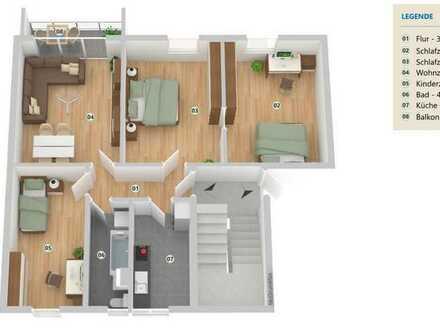 4 Zimmer Wohnung in Brück-Ausbau mit Balkon