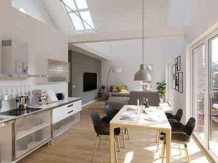 Im Bau: Wohnen wie im Süden - Dachgeschosswohnung mit toller Dachterrasse
