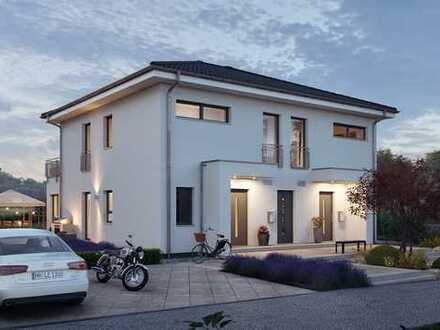 Elegantes und Modernes Zweifamilienhaus wartet auf seinen neuen fleißigen Bauherrn