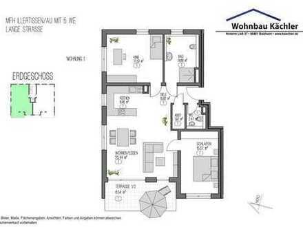 3-Zimmer-Wohnung in Illertissen / Au im Edrdgeschoß mit kleinem Garten
