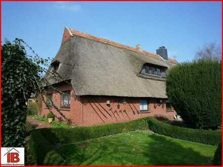 Gemütliches Reetdachhaus mit Einliegerwohnung in Deichnähe