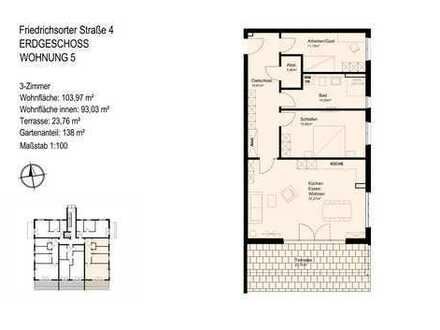 barrierearme 3-Zimmer-Wohnung mit Tageslichtbad und Abstellraum am Feldrand