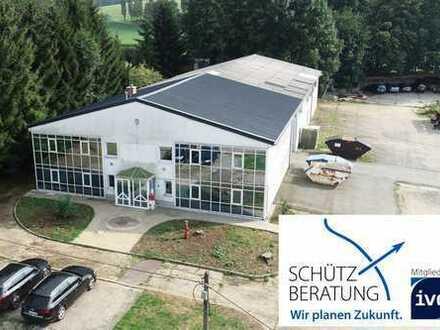 Wohnraum inklusive: moderne Gewerbehalle mit Einliegerwohnung!