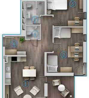 Exklusive 3 Zimmer Obergeschosswohnung