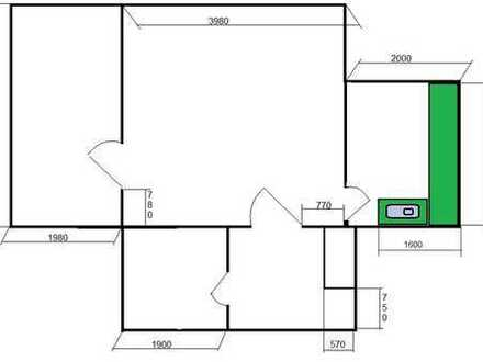 Vollständig renovierte 2-Zimmer-Wohnung mit Balkon und Einbauküche in Duisburg