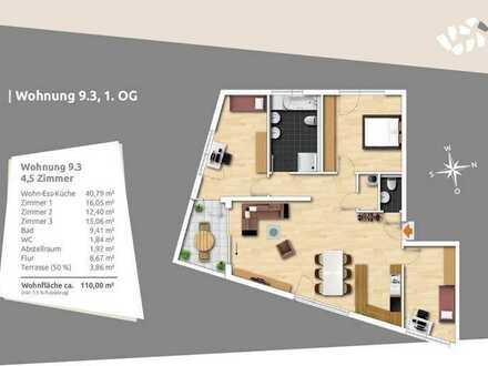 Viel Platz für die Familie - Großzügige 4,5 Zi-Obergeschosswohnung mit großer Loggia