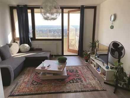 Mayence-Immobilien: Schöne 2 Zimmerwohnung mit Balkon und Weitblick in Mainz!