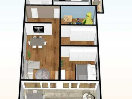 Stilvolle, vollständig renovierte 4-Zimmer-Penthouse-Wohnung mit Balkon und EBK in Ingolstadt