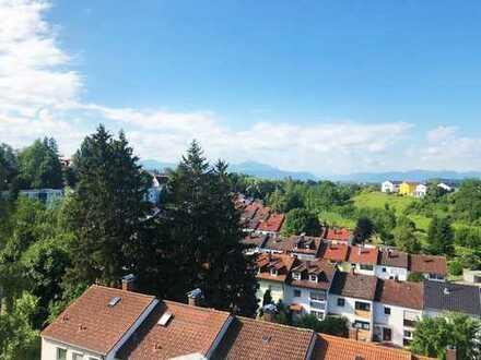 Ruhige drei Zimmer Berblick-Wohnung in Kempten (Allgäu), Lenzfried
