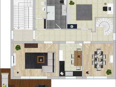 Schöne fünf Zimmer Wohnung in Leinach