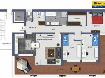 Exklusive 5 Zimmer Neubau Wohnung mit großem Balkon