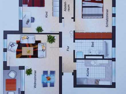 Gepflegte 3-Zimmer-Hochparterre-Wohnung mit Balkon in Mannheim