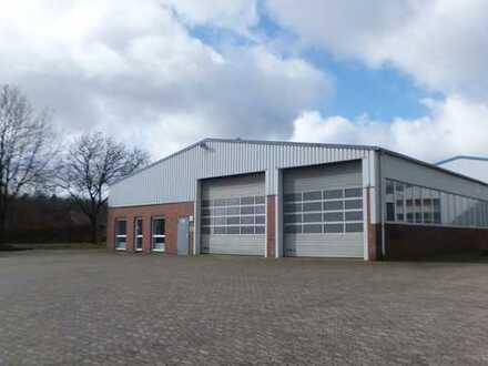 Werkstatt, Lager- und Ausstellungshalle mit Büros, Sozialräumen und Präsentationsfläche