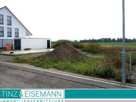 Baugrundstück für DHH in Ortsrandlage im Neubaugebiet - Stutensee-Friedrichstal