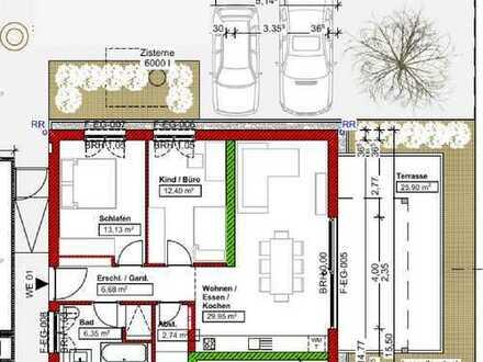 Erstbezug: 3-Zimmer-EG-Wohnung mit Terrasse in Salem