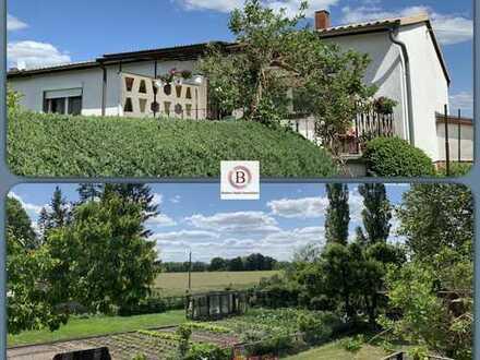 Leben auf dem Dorf: ruhige Ortsrandlage in Kantow, schöner Garten, Weitblick