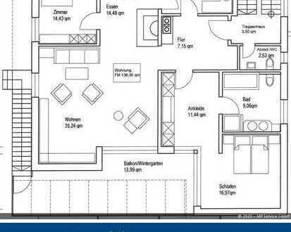 3-4-Zimmer-Wohnung mit großzügigem Wintergarten