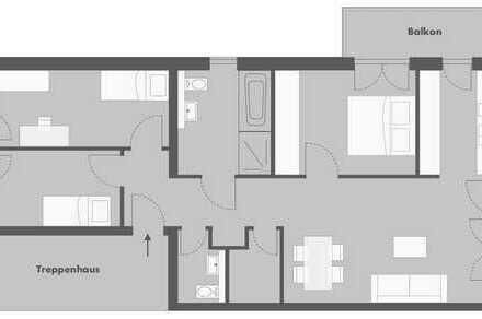 Chice 4 Zimmer Wohnung mit Blick ins Grüne