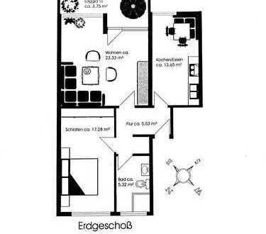 Zentralgelegene 2-Zimmer-Hochparterre-Wohnung mit Balkon in Geretsried