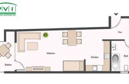1-Raum Wohnung mit Einbauküche 1 Monat mietfrei