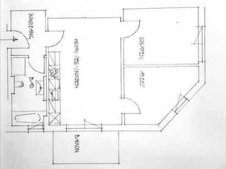 3-Zimmerwohnung mit Balkon am Siebentischpark, 300 m zur Trambahn
