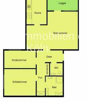 Helle, gepflegte 3-Zimmer-Wohnung mit Balkon