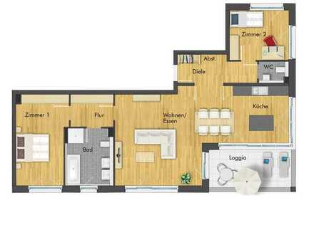 Einzigartige 3-Zimmer Dachgeschosswohnung mit traumhaften Weitblick