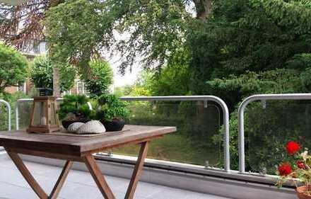 Eine Oase der Ruhe: Gepflegte 3-4 Zi.-Wohnung in vortrefflicher ruhiger und grüner Lage!