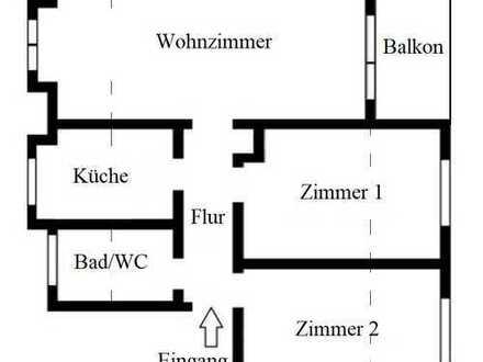 3 Zimmer Wohnung im Innenstadtbereich mit Balkon und Außenstellplatz