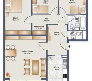 Gepflegte 4-Raum-EG-Wohnung mit Balkon und Einbauküche in Bremen