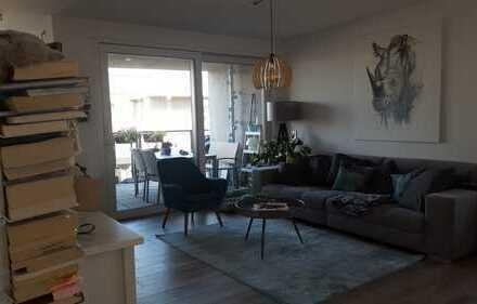 Hochwertige 3-Zimmer-Wohnung mit Balkon am Hafen Offenbach nahe FFM, möbliert zur Untermiete