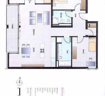 Moderne helle vier Zimmer Luxus- Wohnung in München, Schwabing-West