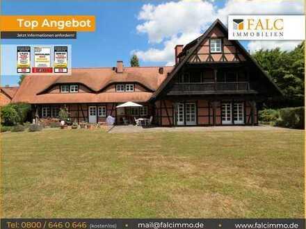 Herrschaftliches Fachwerk-Landhaus auf 5000m² Traumgrundstück mit viel Garagenfläche