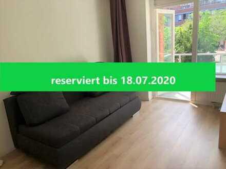 Pfiffige 1,5 Zimmer-Wohnung mit großem Balkon in Hoheluft-West! Mietfrei zum 01.08.2020