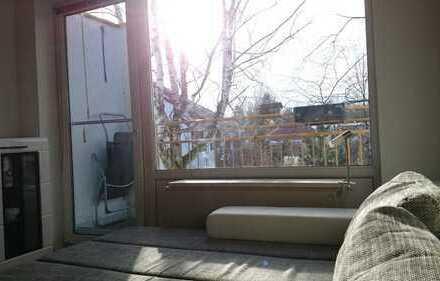 Schöne, ruhige 2-Zimmer-Wohnung mit Ausblick und Balkon in München Nord