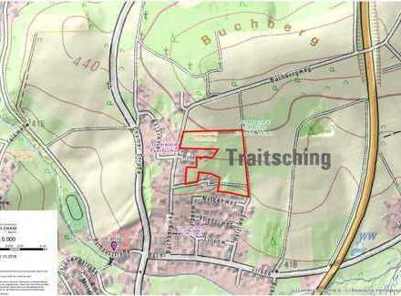 Bauparzellen im Neubaugebiet Traitsching Nord in Südhanglage