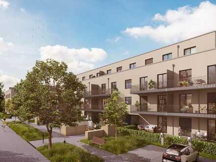 Helle 2-Zimmer-Wohnung mit Terrasse und Garten