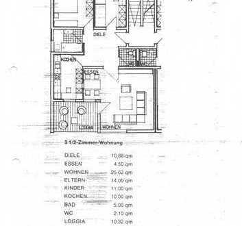 3-Zimmer-Wohnung mit Balkon/Loggia und Einbauküche in Wörth am Rhein / Maximilliansau