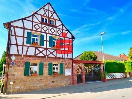 Historisches Fachwerkhaus als Restaurant, Weinstube oder Café