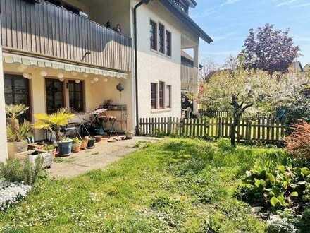 3-Zimmer-Erdgeschosswohnung in Weil am Rhein OT-Märkt mit Terrasse und Garten