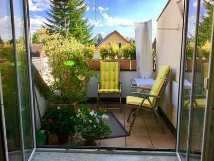 Brück Immobilien - Charmante, moderne 2 Zi.-Dachgeschosswohnung mit Süd/Ost-Terrasse
